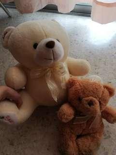 Preloved Teddy Soft Toy ( 2units)