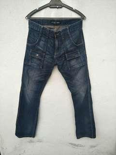 Uniqlo bush pants slim fit jeans denim