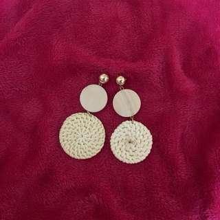 Rattan Earrings ❤️