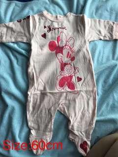 Minnie 嬰兒連身衣(60cm)新舊如圖