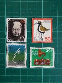 [贈品]1970-80年代 西德 紀念舊票四套