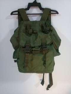 Green Backpack Army Bag