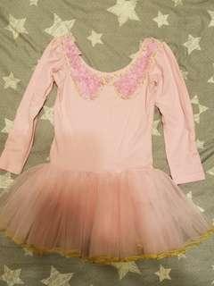 粉紅色長袖芭蕾舞裙