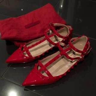 PRE-LOVED RED VALENTINO FLATS EU 37.5
