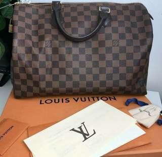 Louis Vuitton Speedy 35 damier ebene bag