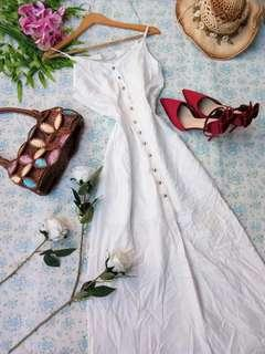 White Buttoned Down Dress