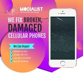 Having A crack Screen for iPhone? No worries, contact us!
