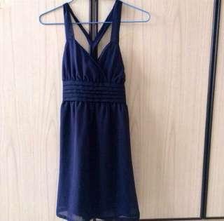 Navy Blue cross back Dress