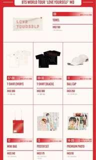 [LAST CALL] [PO] [HTB] BTS Love Yourself Tour Live In Hong Kong Merchandise