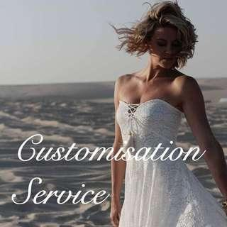 Custom made service customisation service dress / evening gown / prom dress / wedding gown