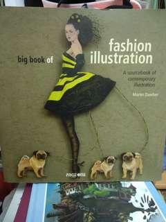 fashion big book in illustrator/ 插畫/藝術書籍/外語書