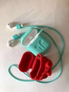 AirPods case with string 耳機保護套連同色掛繩(厚身)