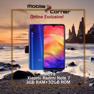 Xiaomi Redmi Note 7 [128GB ROM+4GB RAM,64GB ROM+4GBRAM & 32GB ROM +3GB RAM -Ori MY Set Upcoming