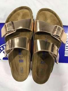 5f270b46f866 Birkenstock Arizona Metallic Soft Footbed Sandals