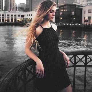 black grid dress 👑