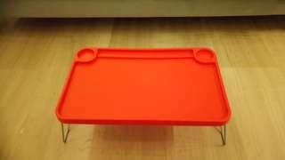 IKEA breakfast on bed table, bed tray