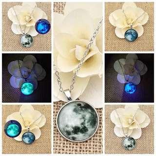Glow In The Dark Full Moon Necklace🌕