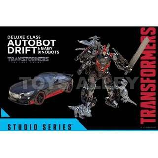 [Preorder] Transformers Movie Studio Series Deluxe Autobot Drift with Baby Dinobots