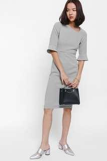 Love Bonito Haisey Asymmetrical Neck Bell Sleeve Dress