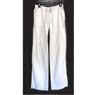Hong Kong White Linen Pants