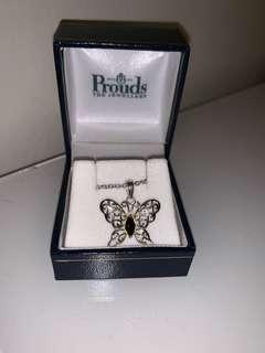 Prouds Butterfly Necklace