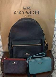 Coach Backpack and Wrislets