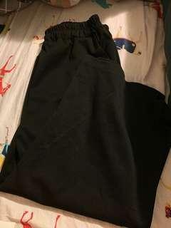 黑色 七分闊腳褲 #flashthurs