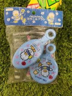 Pekkle Ap鴨日本絕版1997年鏡梳袋套裝(罕有)