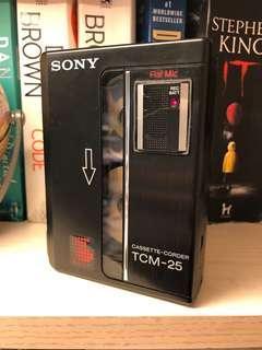 Sony Walkman TCM-25 made in Japan 洗帶機