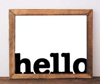 Hello Wall Art Home Decoration Welcome Poster Bedroom Decoration Picture Frame Art