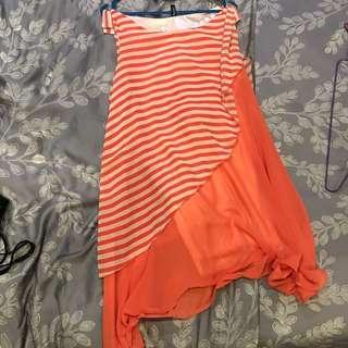 🚚 Pink striped dress