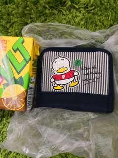 Pekkle Ap鴨日本絕版1991年靚靚布+皮銀包(罕有)