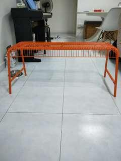 Ikea orange bench