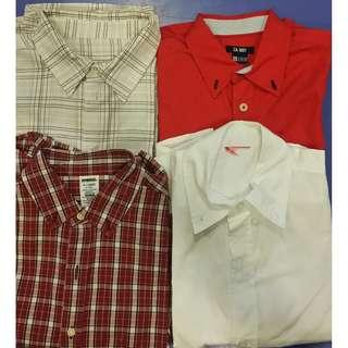 GOOD DEAL!!! BUNDLE of 3 or 4 LIKE NEW long sleeved shirts 6-8 years.