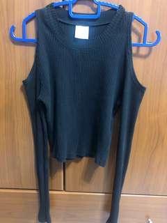 Knitwear Off Shoulder Top