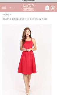 Mgp label midi dress in red