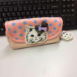 🚚 全新日本帶回貓咪 珍珠化妝包