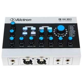 Soundcard usb recording audio alctron MKII
