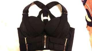 Honey Birdette Blair black bra & thong set 10D XS