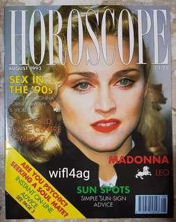 Madonna - Horoscope UK Aug 1993 Magazine Elle Bazaar GQ
