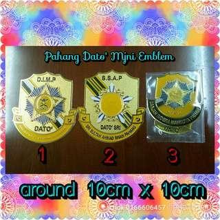 Pahang Dato' Mini Car Plat Emblem