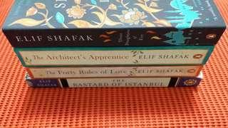 Elif Shafak - The Architect's Apprentice, The Forty Rules of Love,  Three Daughters of Eve,  The Bastard of Istanbul