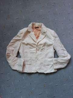 Sisley white blazer