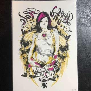 a086d1e2f8e20 Girl Sexy Words Colour Feminine Half Sleeve Temporary Tattoo Sticker