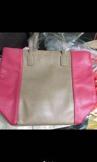 🚚 Lancôme 桃紅 駝色 包包