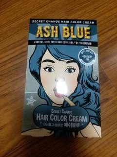 韓國藍色染髮劑~1盒可以染3次
