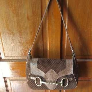 Leather and suede lady's bag