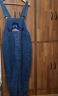 🚚 可愛伊耳(維尼好朋友)牛仔連身褲