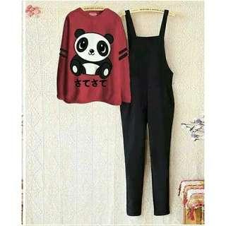 jumpsuit//overall panda