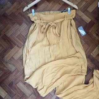 Authentic Forever 21 Yellow High Waist Trousers